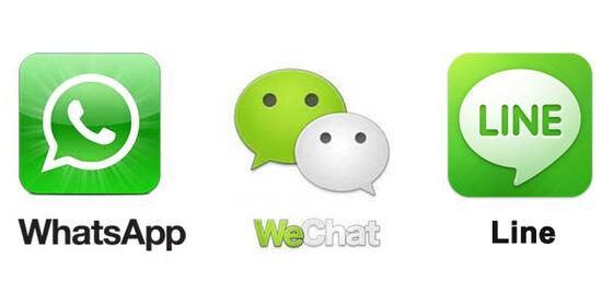 微信、whatsapp与LINE到底有啥区别?