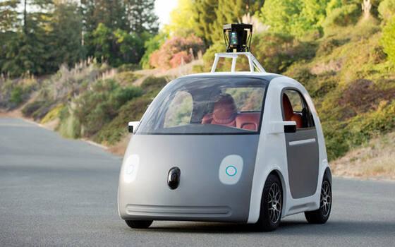 """google的自动驾驶汽车,可以称为""""全自动驾驶汽车"""",这种汽高清图片"""